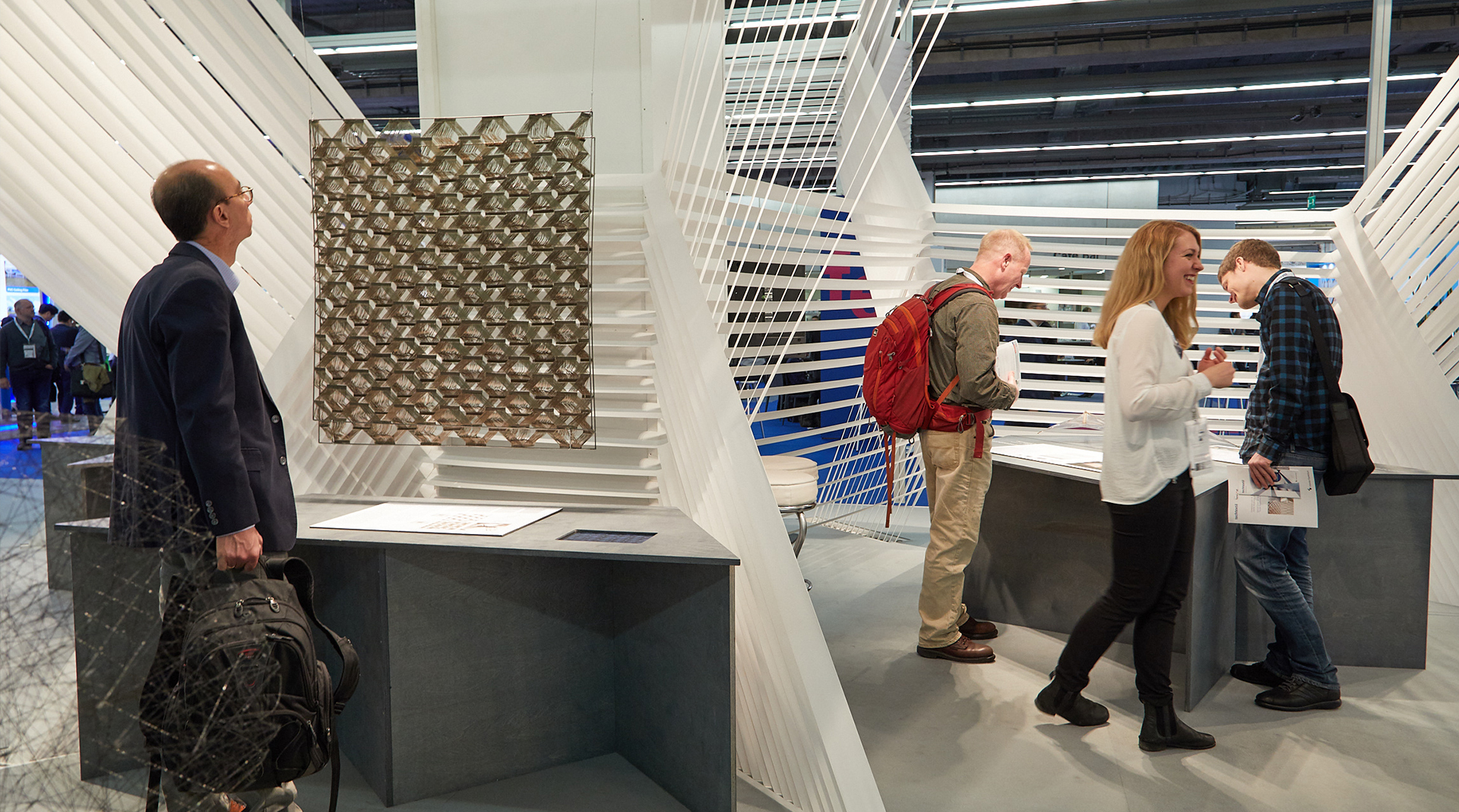 Inspiration: Students and young professionals presented their ideas for building with textiles / Source: Messe Frankfurt Exhibition GmbH