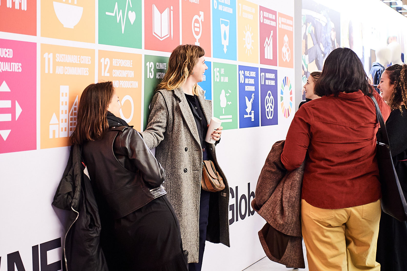 SDG wall at Neonyt, Global Hub for Fashion, Sustainability and Innovation / Photo: Messe Frankfurt Exhibition GmbH