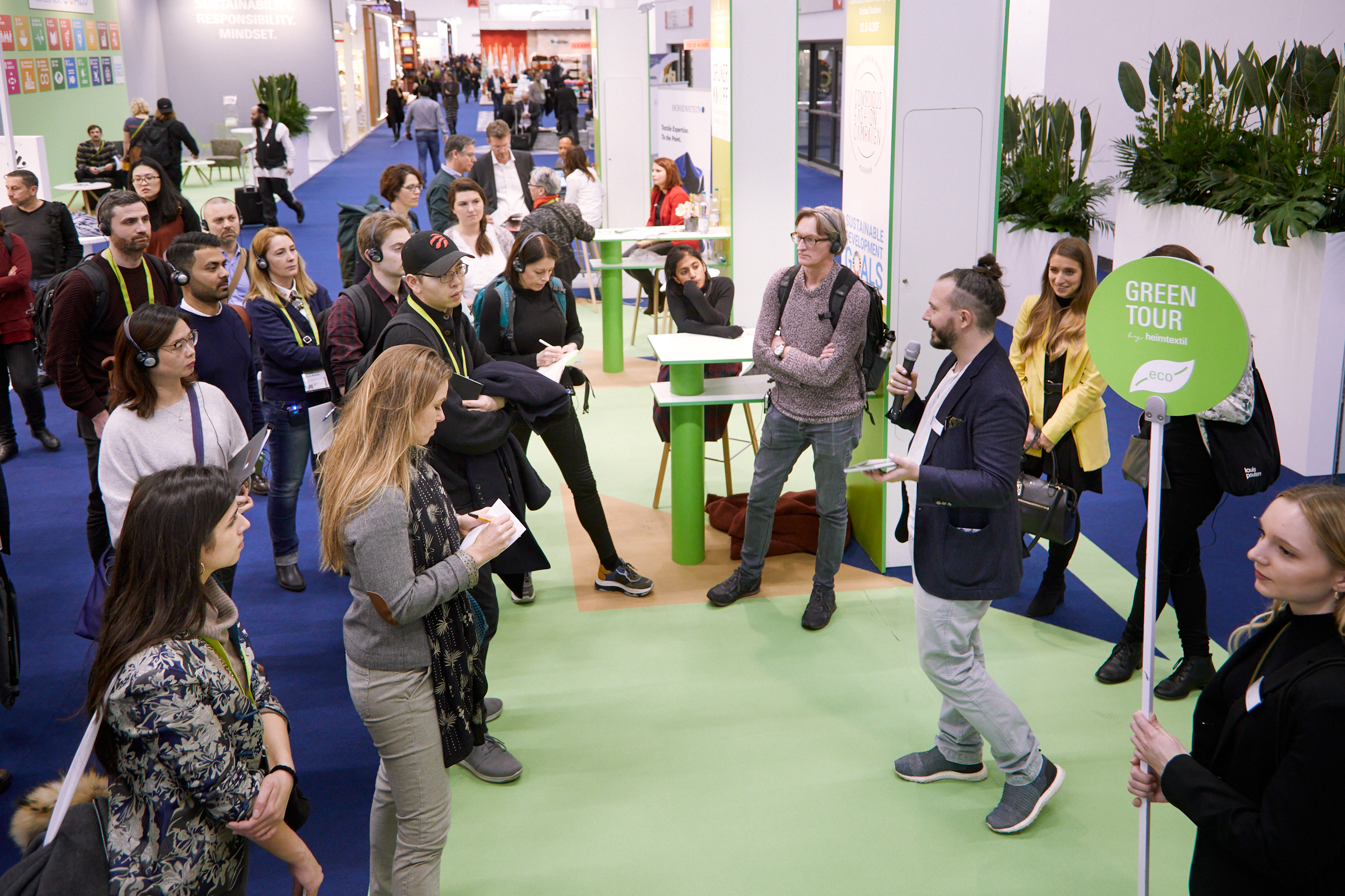 Green Tour at Heimtextil highlighting sustainable producers for home textiles / Photo: Messe Frankfurt Exhibition / Jean-Luc Valentin