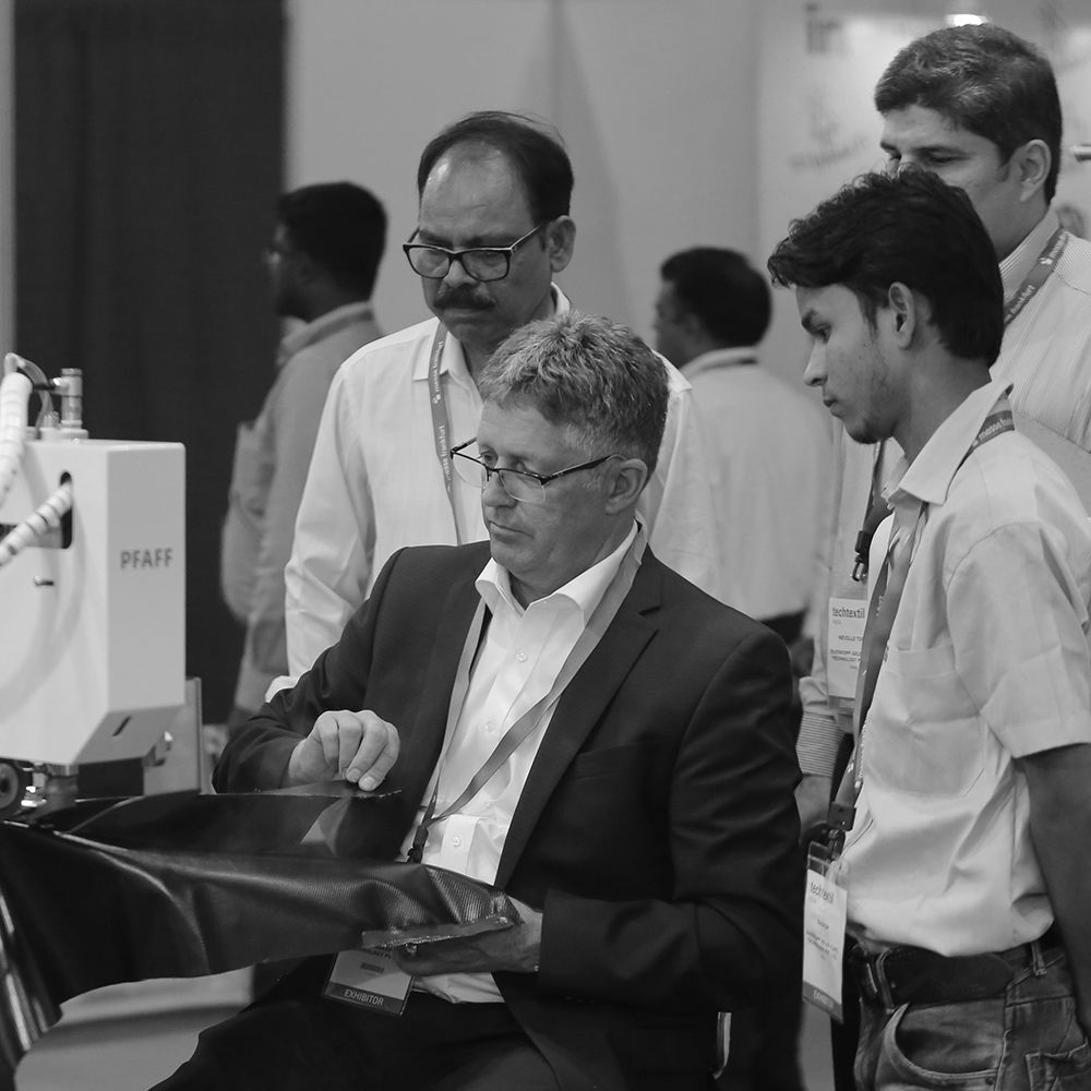 Visitors at Techtextil India